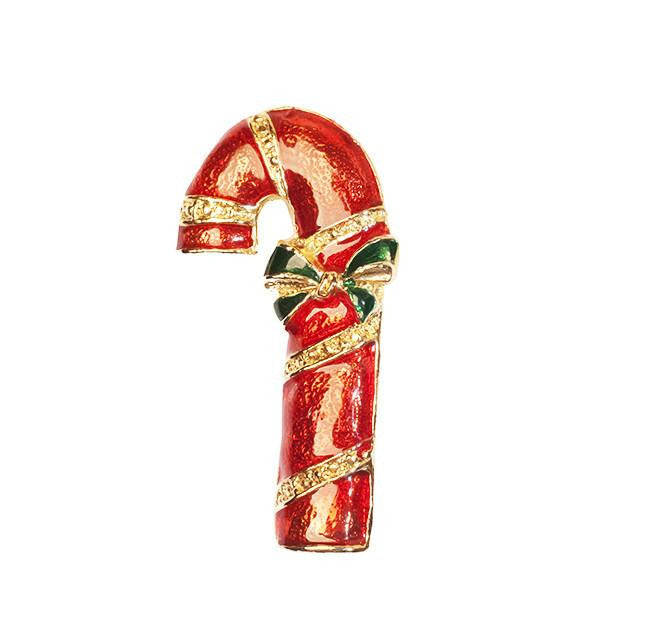 Vintage Candy Cane Christmas Pin 2