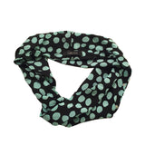 Carlisle Aqua Blue Knit Shell with Self Scarf 4