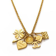 Chanel Gold Charm Chain Necklace