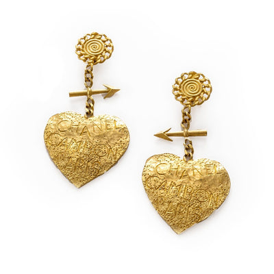 Chanel Heart Earrings Cambon Paris Graffiti