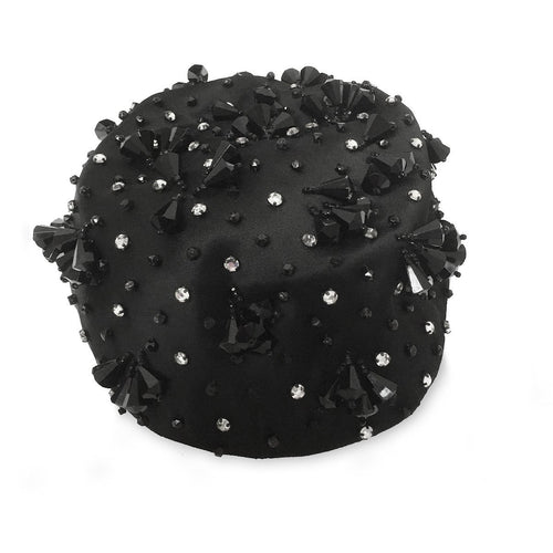 Beaded Pillbox Cocktail Hat, Deborah Exclusive, Hat Size 20