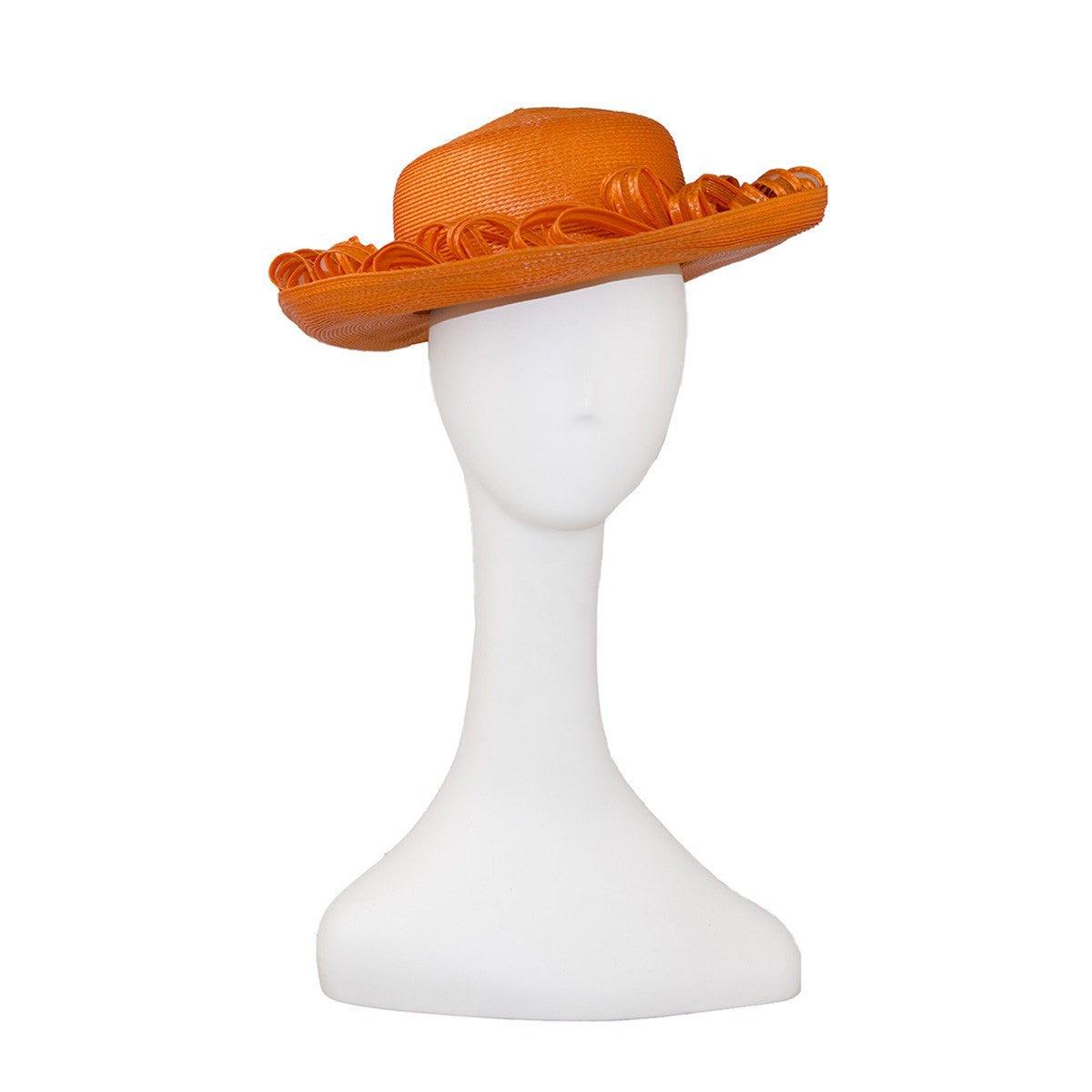 Orange Straw & Horsehair Hat by Don Anderson 7