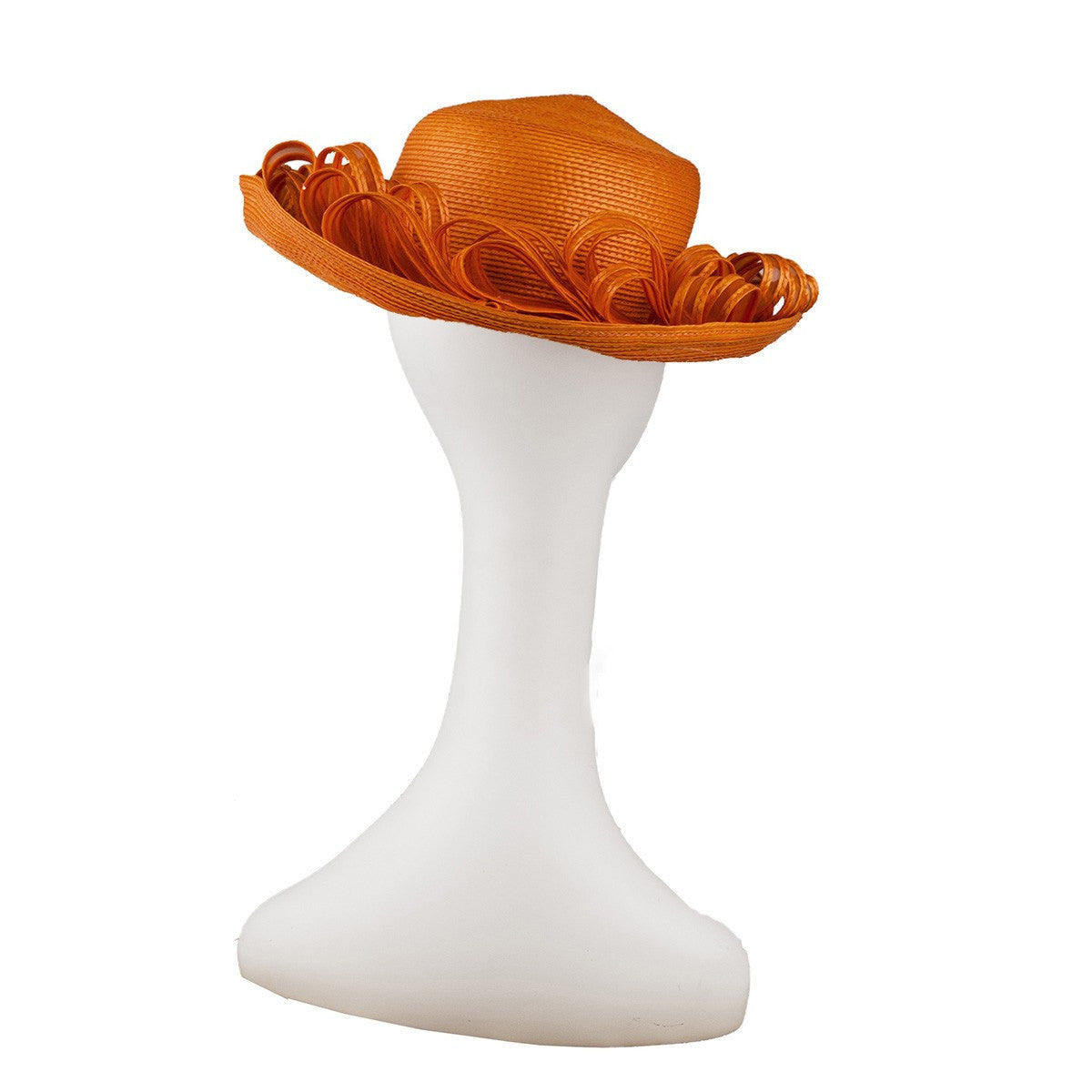 Orange Straw & Horsehair Hat by Don Anderson 4