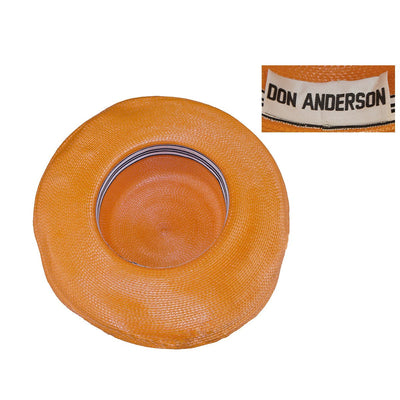 Orange Straw & Horsehair Hat by Don Anderson 5
