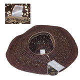 Brown Raffia Sun Hat 4