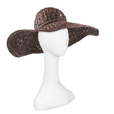Brown Raffia Sun Hat