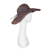 Brown Raffia Sun Hat 3
