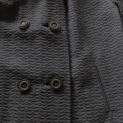 Fox Trimmed Gray Wool Coat 7 by Muse's Townley, Forstman Stevens Fabric