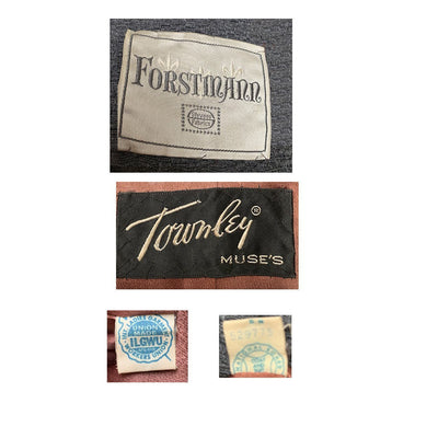 Muse's Townley Coat Forstmann Stevens labels