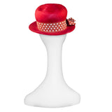 Red Straw Hat Polka Dot Ribbon 4