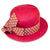 Red Straw Hat 2 Polka Dot Ribbon