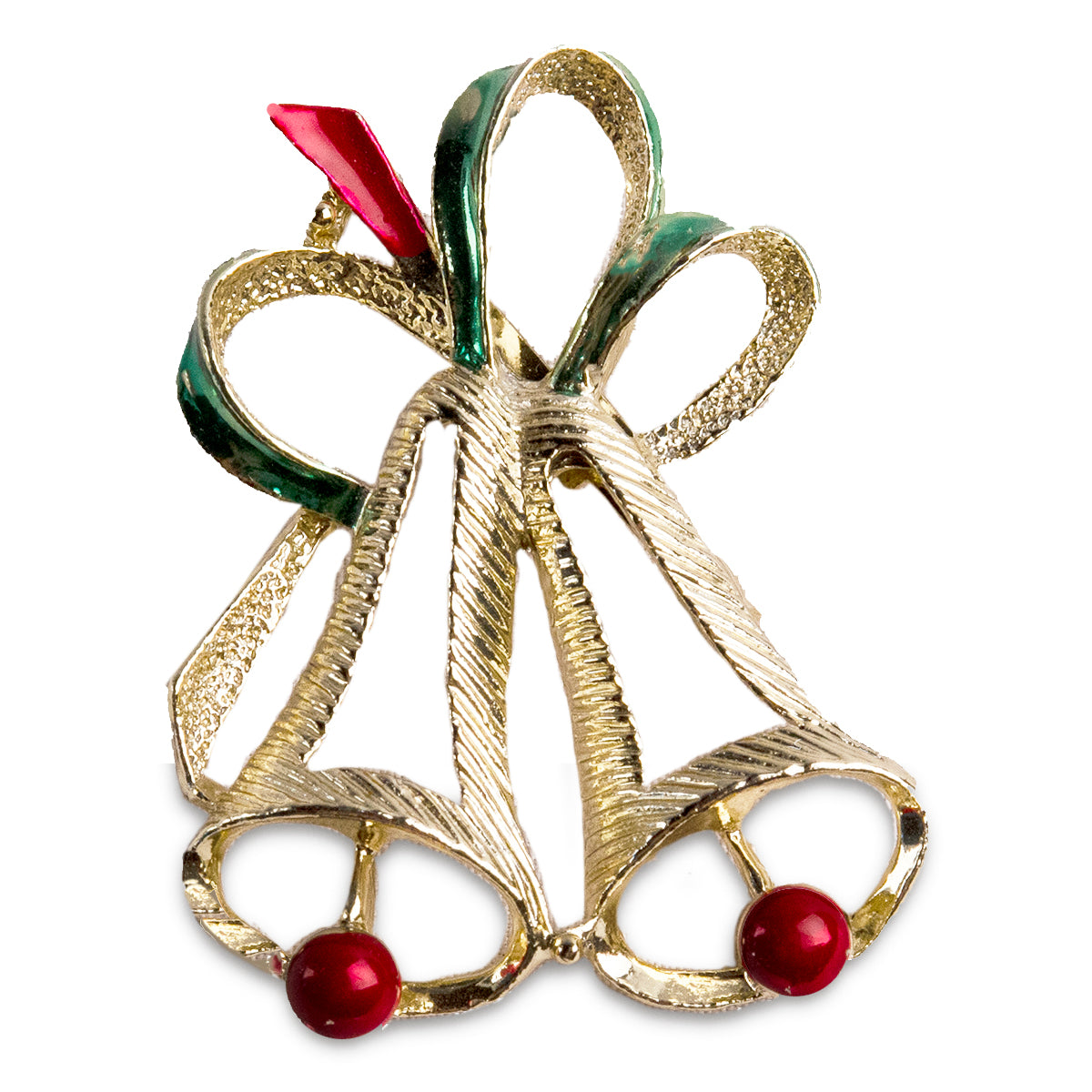 Christmas bell pin, christmas bell brooch, Gerry jewelry