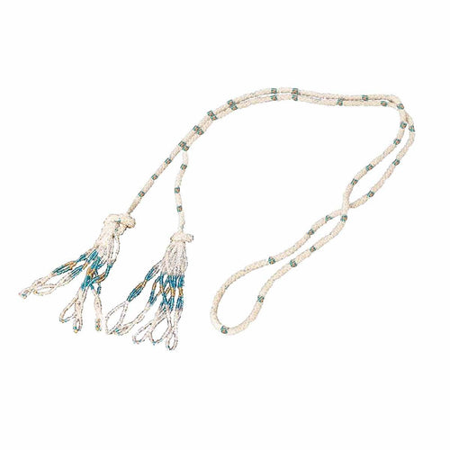 Vintage Glass Bead Tassel Sautoir Necklace Flapper Style