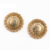1950s Gold Filagree Button Ear Clips