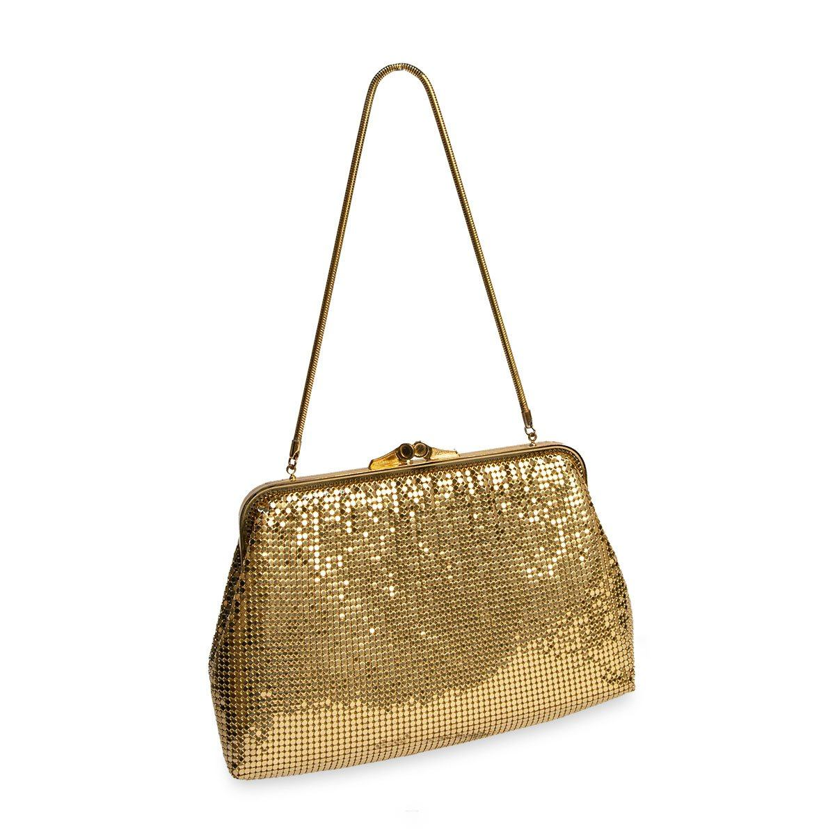 Vintage Gold Metal Mesh Purse