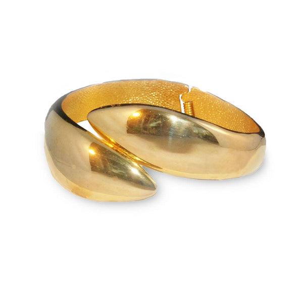 1970s Modernist Gold Metal Clamper Bracelet