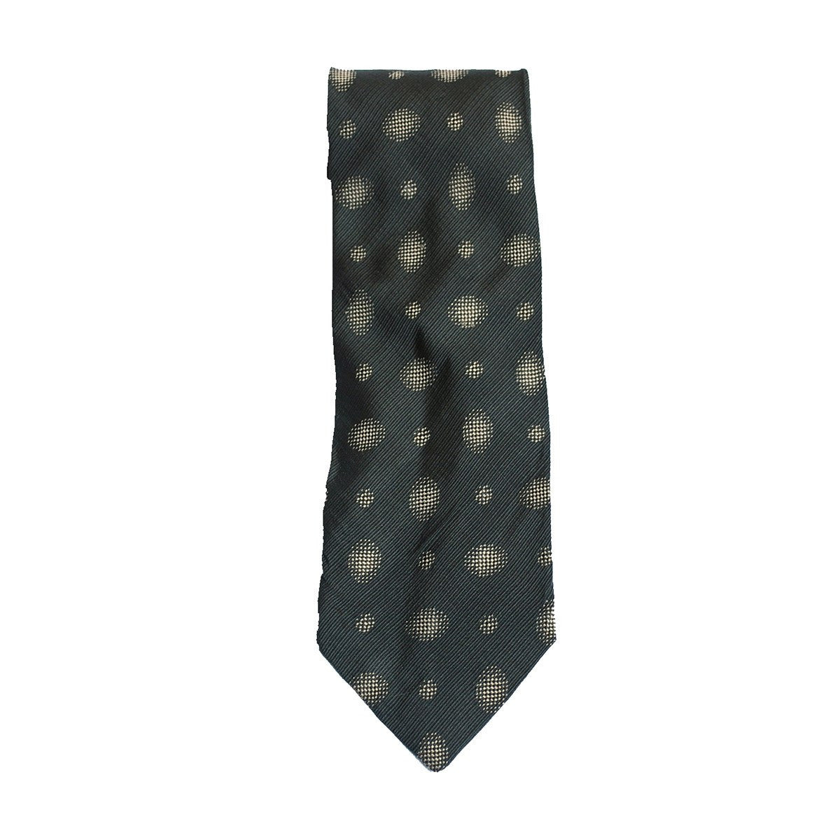 1980s Armani Men's Tie, Abstract Circle Pattern