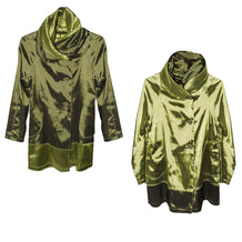 Reversible Green Jacket, Shawl Collar & Hood