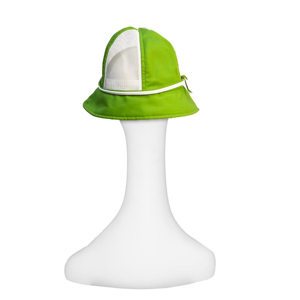 Vintage 70s Bright Green Golf - Tennis Hat by Happy Cappers