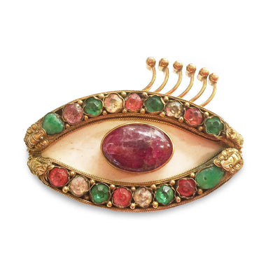 Harry Fireside Surrealist Eye Brooch