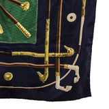 Vintage Hermes Silk Scarf 4, Walking Sticks, Cannes et Pommeaux,