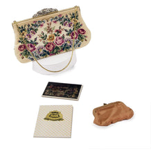 Vintage Jolles Petit Point Purse, Floral Handbag