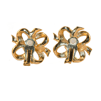 Kenneth Jay Lane for Avon Vintage 80s Bow Earrings 4