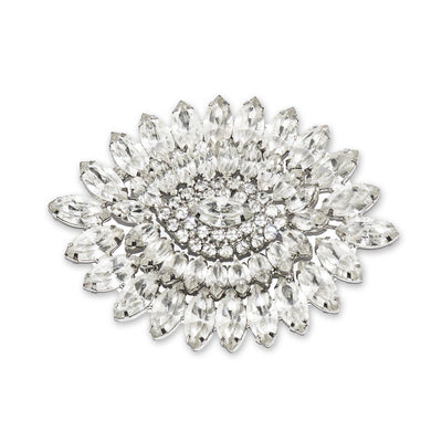 vintage wedding brooch Large Rhinestone Oval Brooch, Art Deco Design