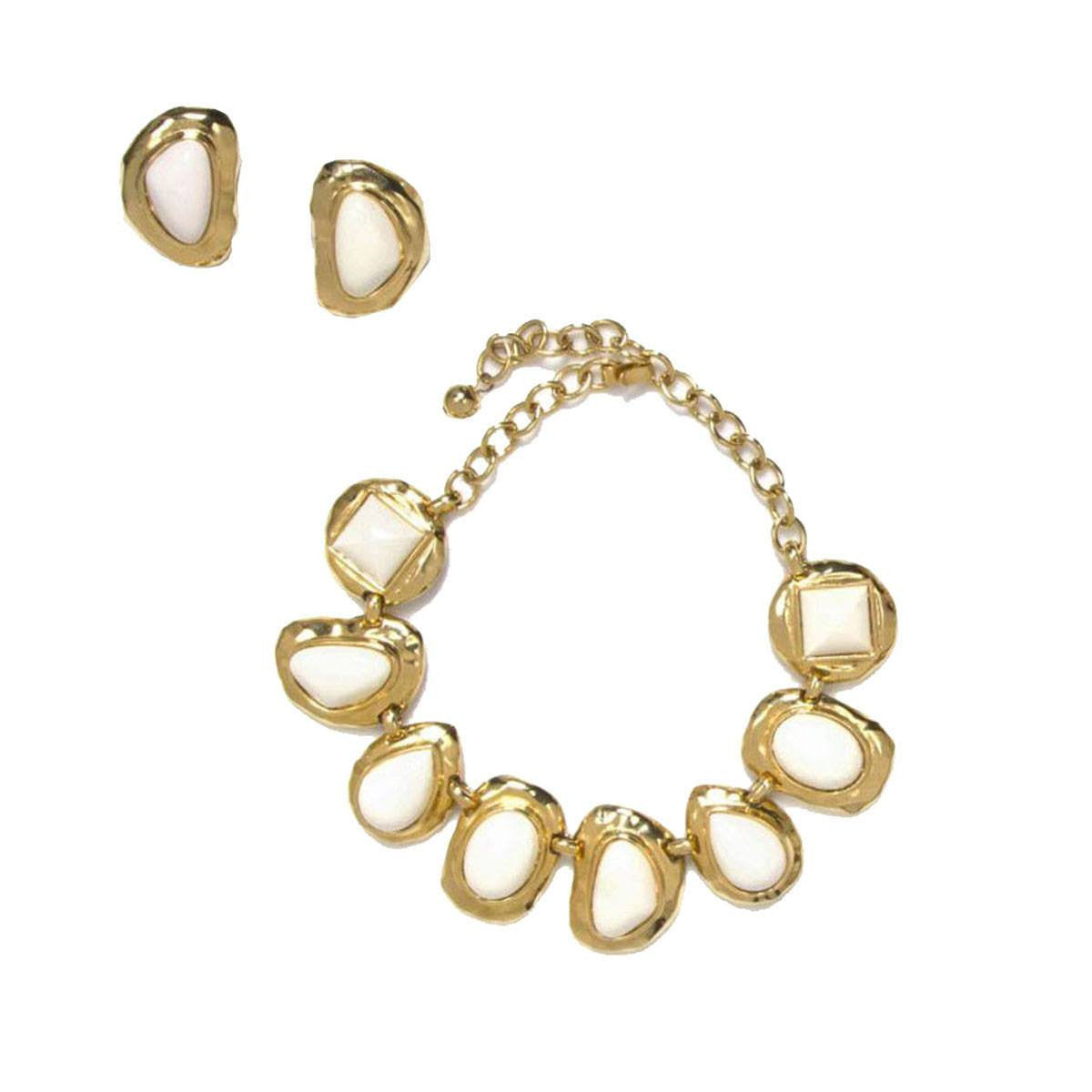 Les Bernard Modernist Necklace & Earrings Set