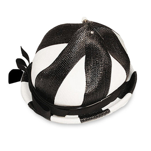 Lilly Dache Straw Breton Hat 2, Black & White Color Block