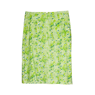 1970s Lilly Pulitzer, The Lilly Green Floral Skirt, Size Medium 6