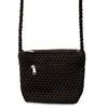 Small Black Macrame Shoulder Bag 2