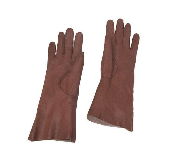 Brown kidskin gloves 2