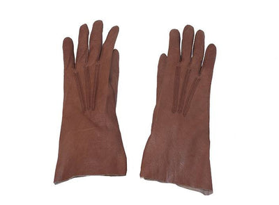 Brown kidskin gloves 3