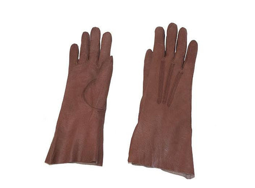 Brown kidskin gloves