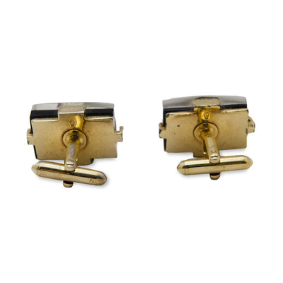 Vintage Swank Cufflinks 4, Lucite, Oyster Shell & Pearl