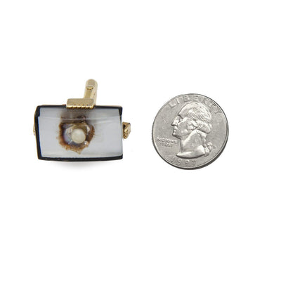 Vintage Swank Cufflinks 5, Lucite, Oyster Shell & Pearl