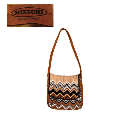 Missoni Knit Satchel Messenger-style Shoulder Bag from Ebony Fashion Fair