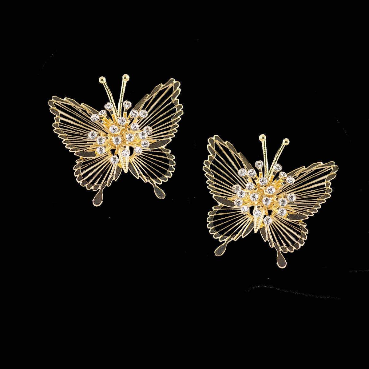 Vintage 50s Monet Butterfly Pins 2, Spinnerette Series - Set of Two
