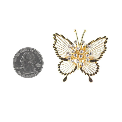 Vintage 50s Monet Butterfly Pins 4, Spinnerette Series - Set of Two