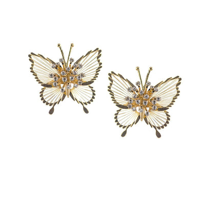 Vintage 50s Monet Butterfly Pins 3, Spinnerette Series - Set of Two