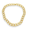 Vintage Monet Gold Link Necklace, vintage monet jewelry