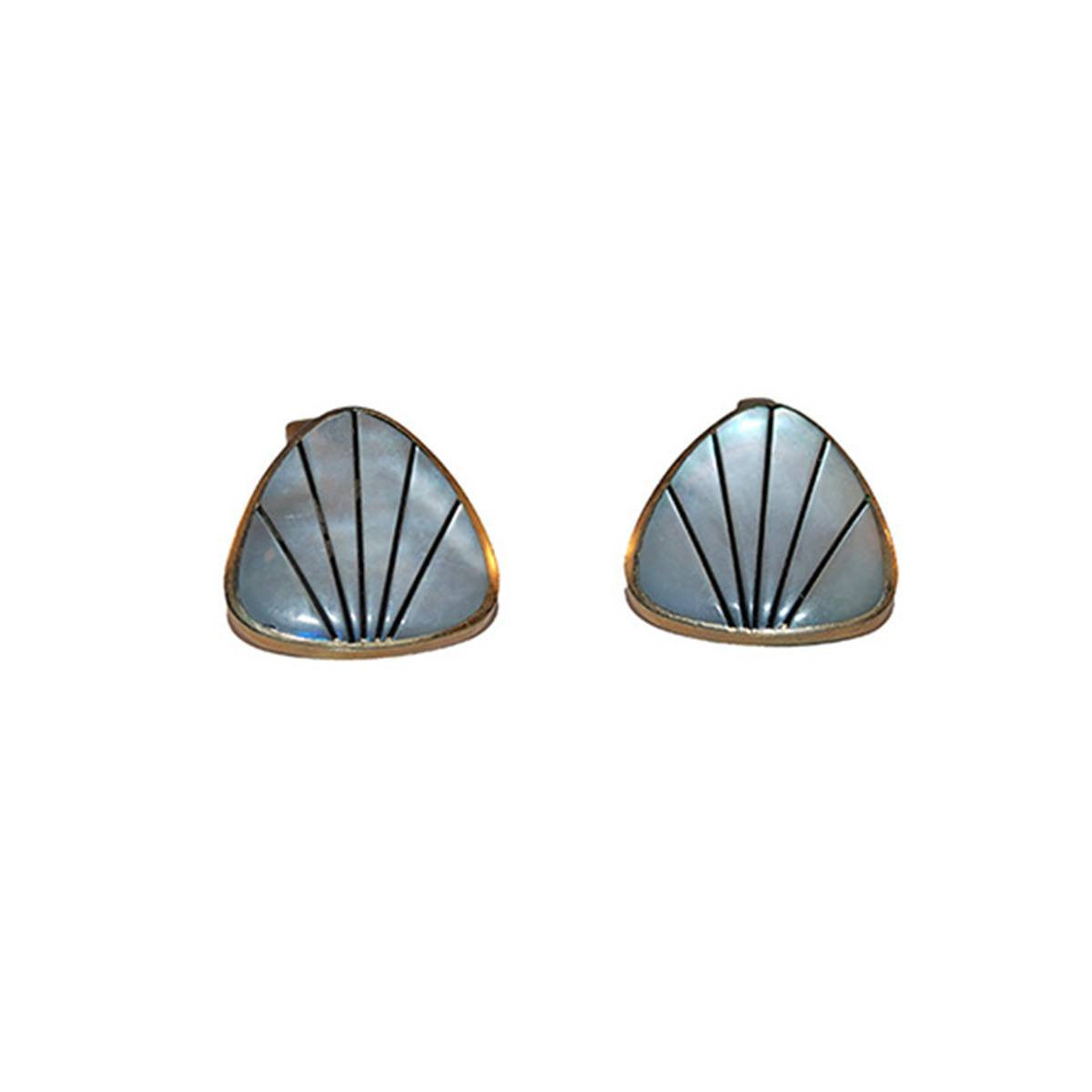 1950s Mother of Pearl Cuff Links