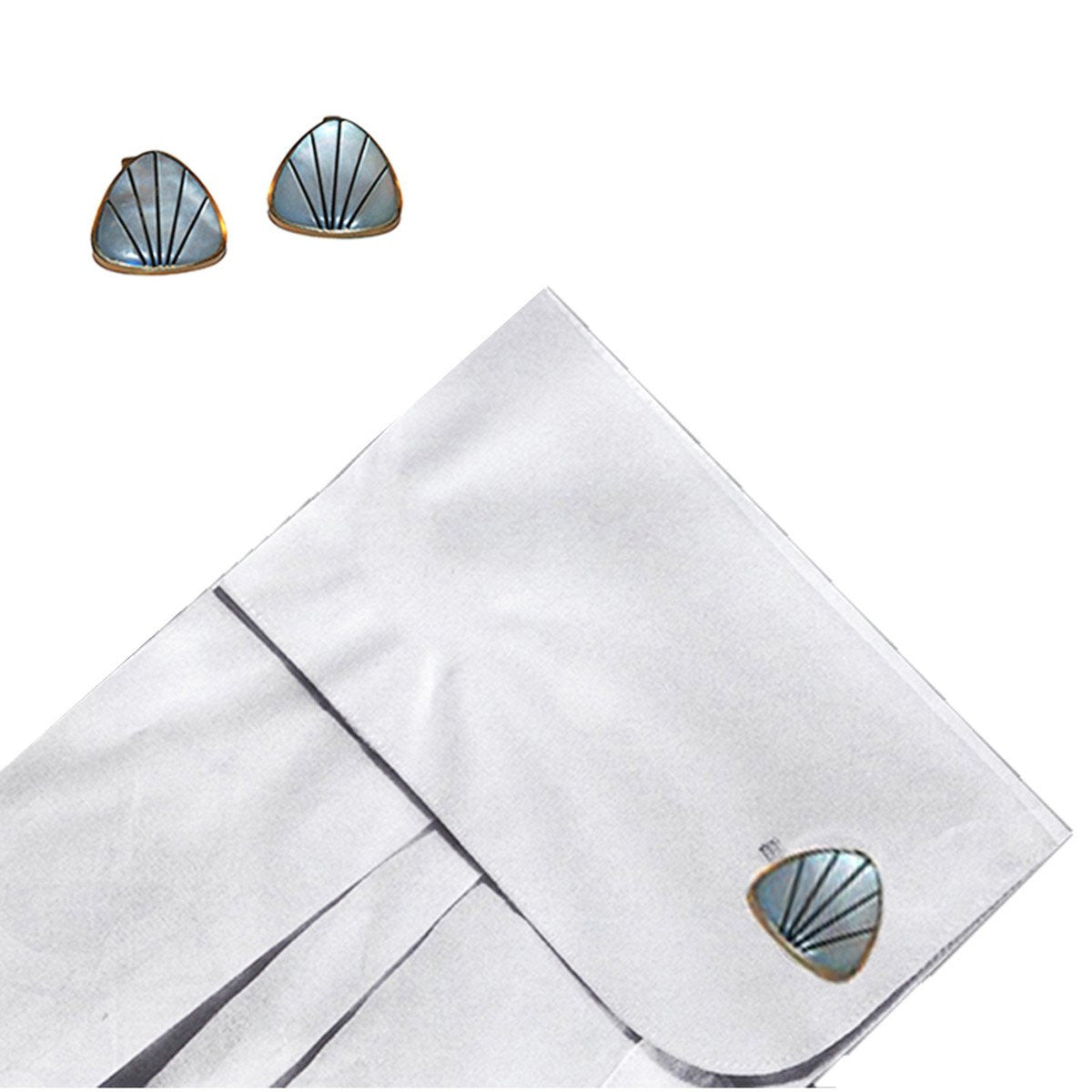 1950s Mother of Pearl Cuff Links 3