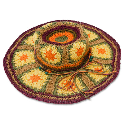 Boho Wide Brim Straw Hat