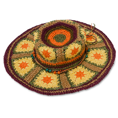 Boho Wide Brim Straw Hat 7