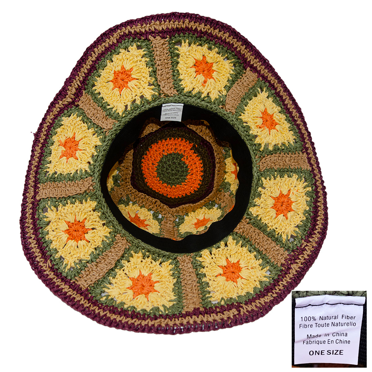 Boho Wide Brim Straw Hat 8