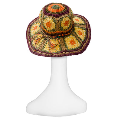 Boho Wide Brim Straw Hat 5