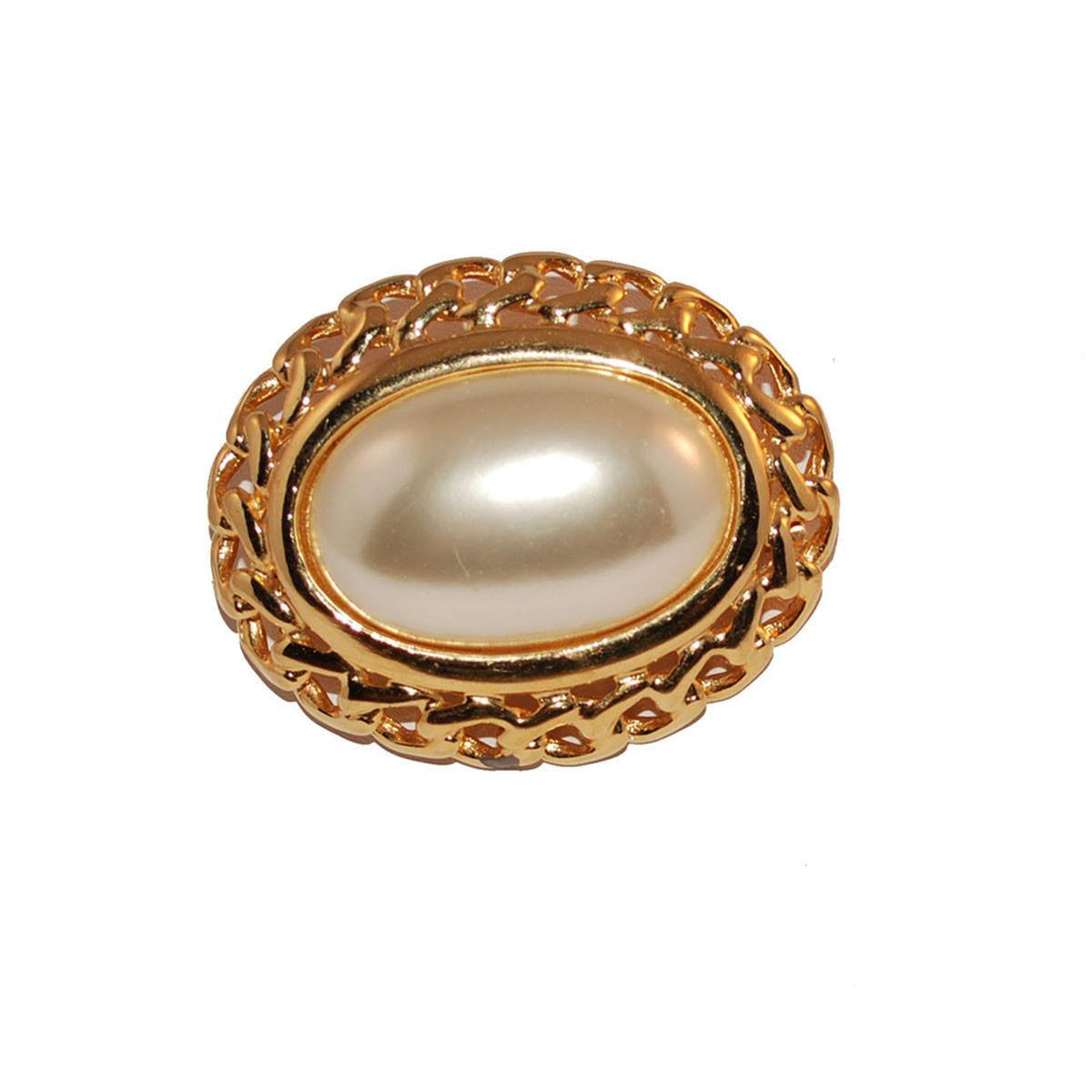 1970s Napier Mabe Pearl Brooch