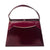 Vintage Naturalizer Two Tone Burgundy Structured Handbag, Gold Hardware